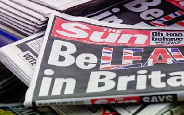 Britain's Biggest-Selling Newspaper The Sun Backed A So-Called Brexit On Its Front Page