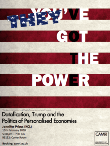 Datafication, Trump and the Politics of Personalised Economies @ Cayley Room 152 | England | United Kingdom