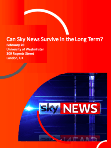 Can Sky News Survive in the Long Term? @ The Boardroom | England | United Kingdom