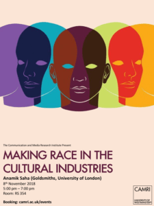 Making Race in the Cultural Industries @ University of Westminster | England | United Kingdom
