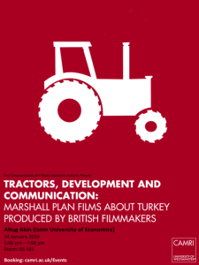 Tractors, Development and Communication: Marshall Plan Films about Turkey produced by British Filmmakers @ University of Westminster (Room RS 501) | England | United Kingdom