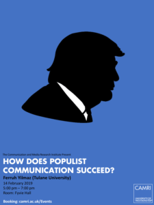 How Does Populist Communication Succeed? @ University of Westminster (Fyvie Hall) | England | United Kingdom