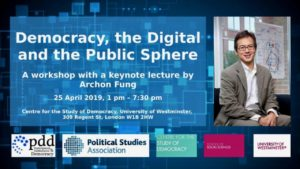 Democracy, the Digital and the Public Sphere @ University of Westminster | England | United Kingdom
