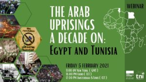 The Arab uprisings a decade on: Egypt and Tunisia @ Online